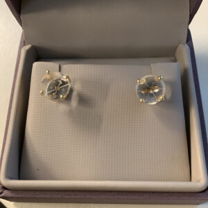 Lori Magruder created a pair of earrings with the same sensors used to analyze the accuracy of ICESat-2's geolocation operations